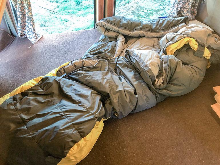 冬用の寝袋