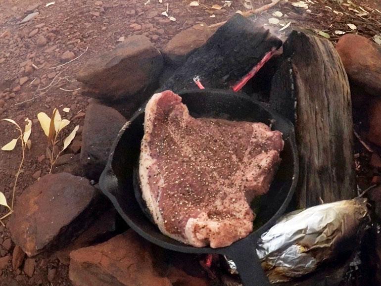 オージービーフのTボーンステーキ