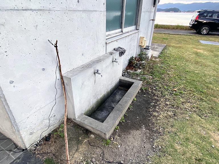 咸陽島公園 トイレ横の水道
