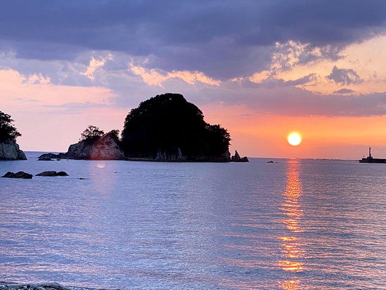 咸陽島公園の絶景