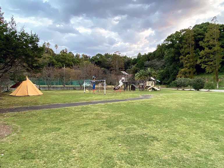 咸陽島公園 芝生