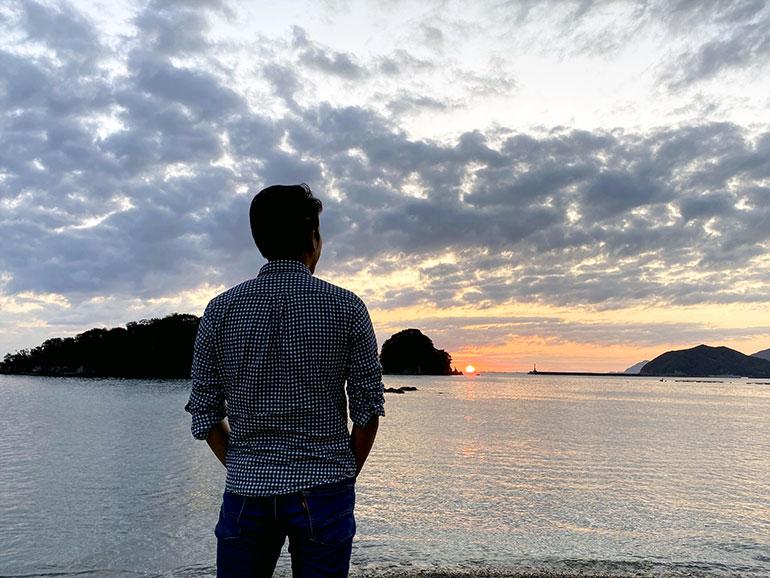 咸陽島公園 夕陽