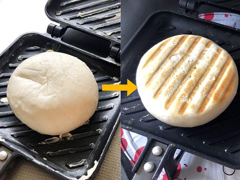 肉まん・ピザまんを使ったホットサンド 作り方