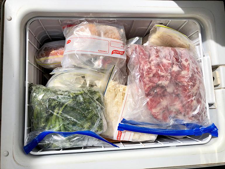 車内 食材の保存