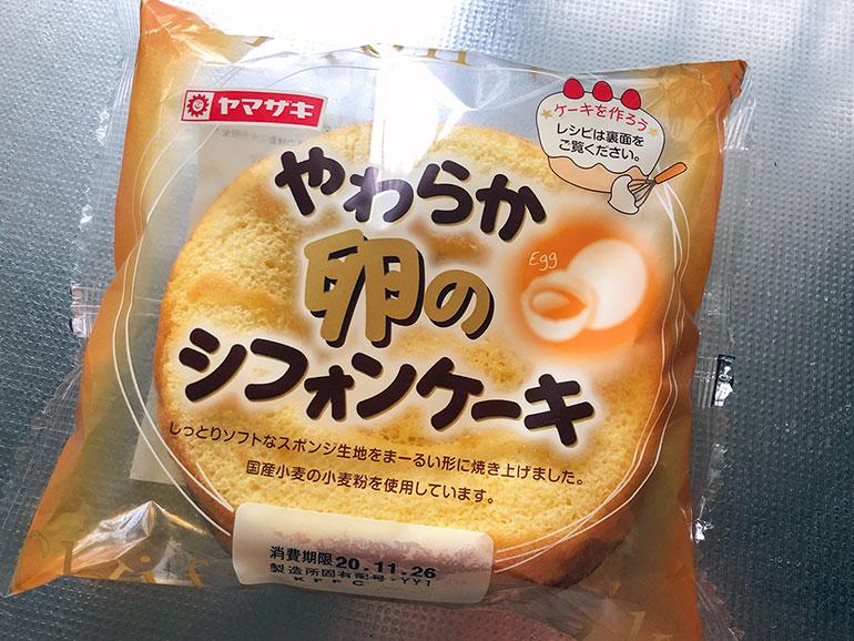 ヤマザキパンのシフォンケーキ