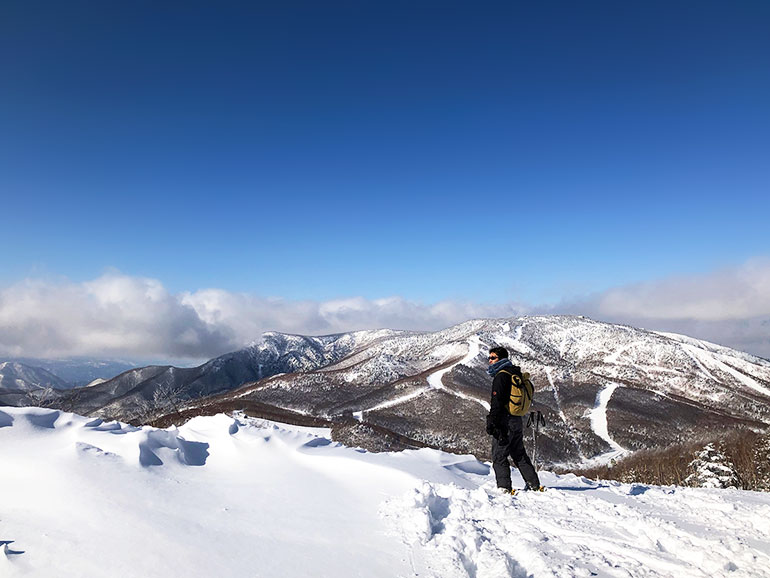 志賀高原スキー場の頂上から見た風景