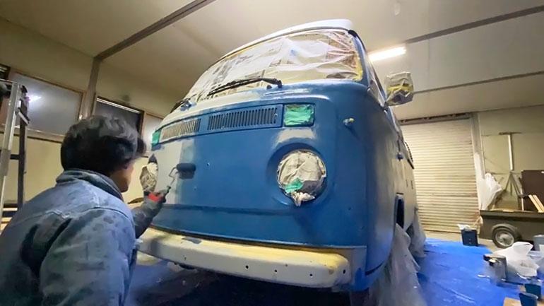 ワーゲンバスのDIY塗装