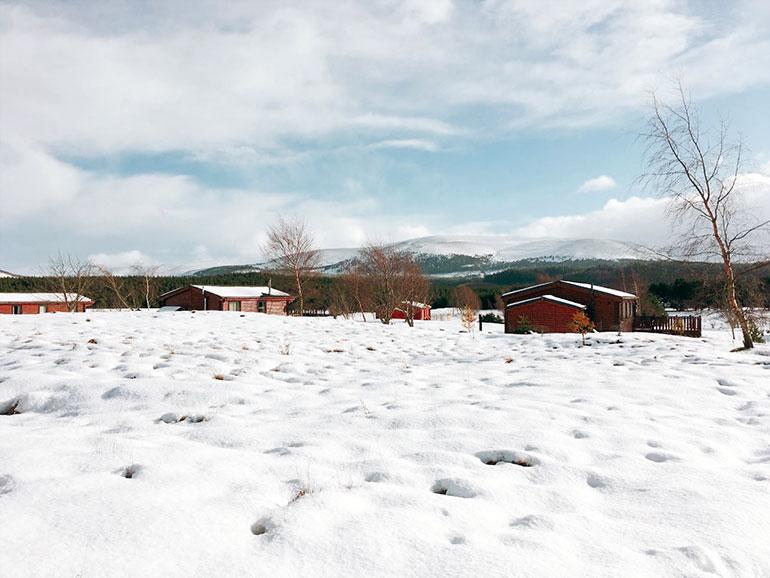 スコットランド 雪