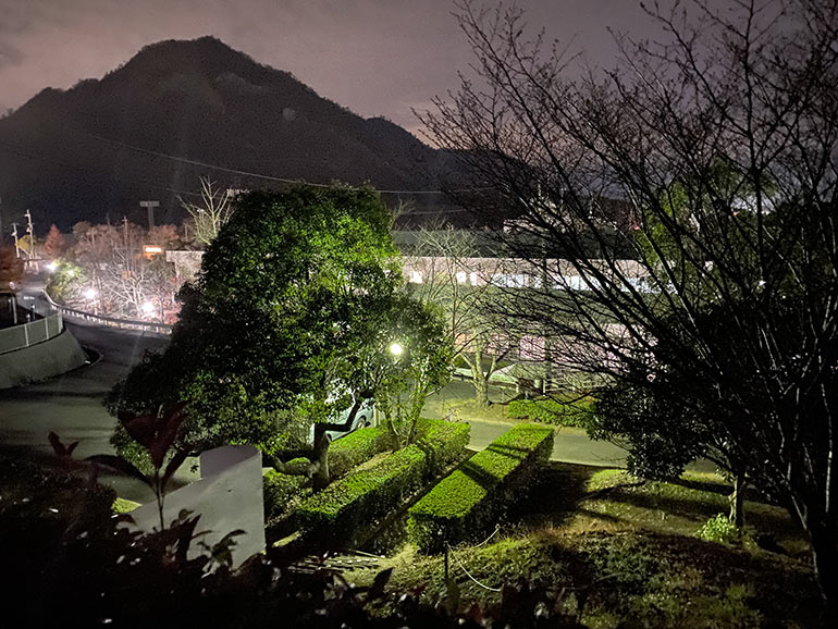 橘の丘総合公園 夜の様子