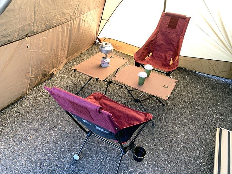 ヘリノックスの椅子とテーブル