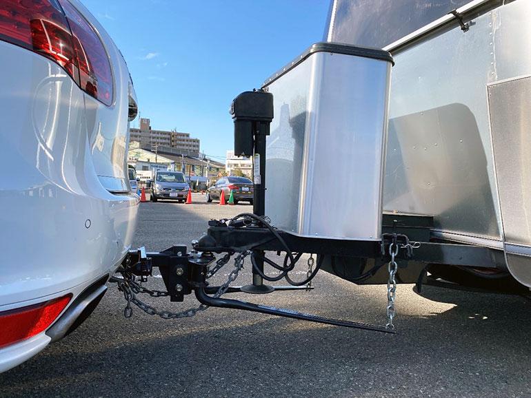 ヘッド車とエアストリームの連結部