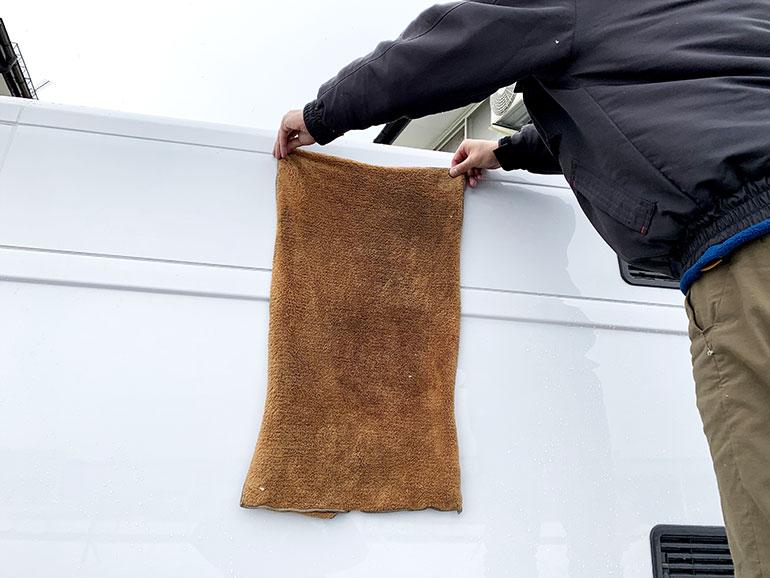 大判サイズの磨き上げタオル
