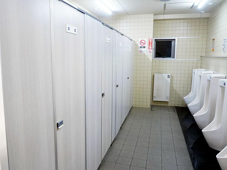 道の駅「スワン44ねむろ」のトイレ