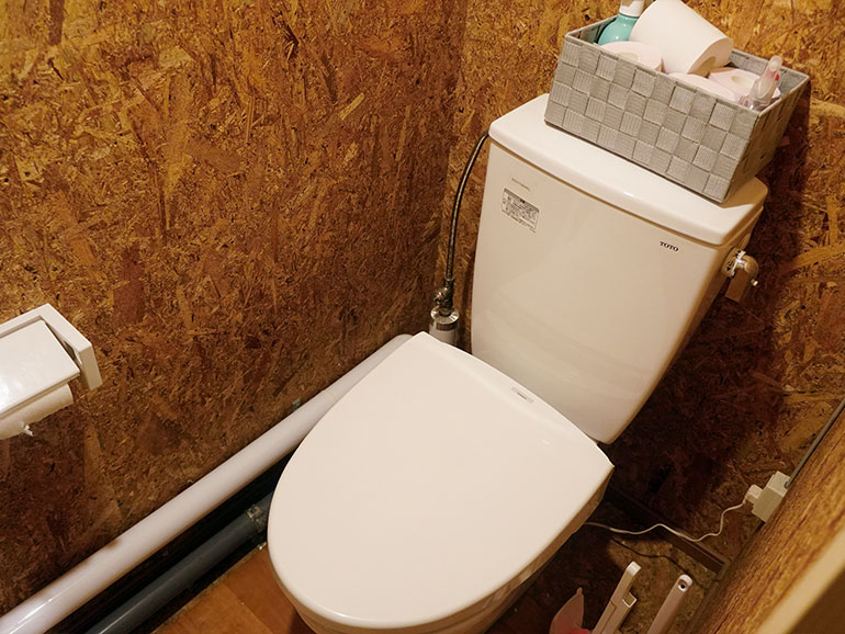 RVパーク「知床清里町ウエネウサルみどり」のトイレ