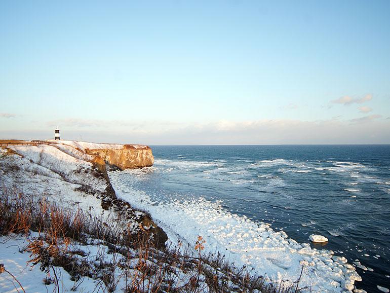 北海道流氷の風景