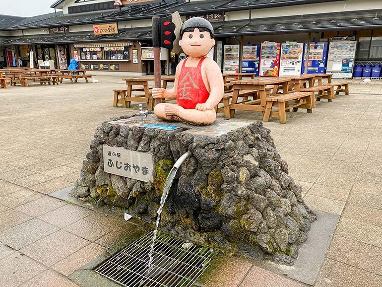 道の駅ふじおやまの湧水スポット