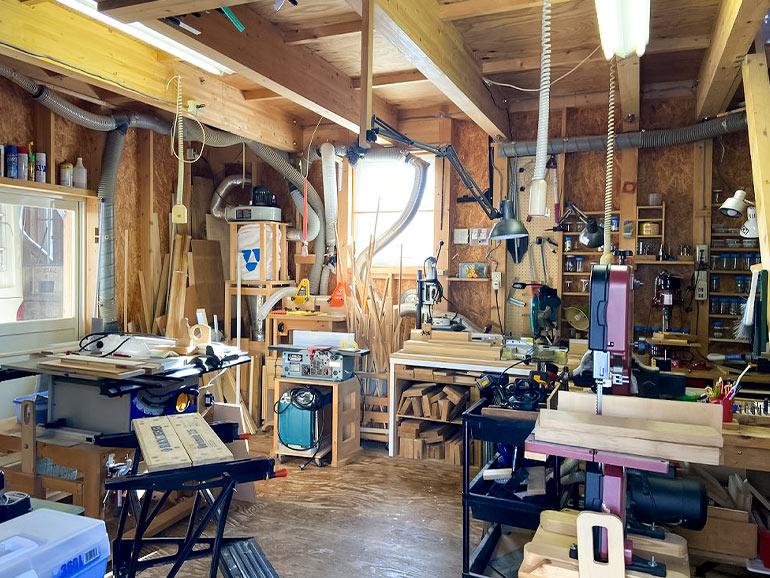 自宅の工作室