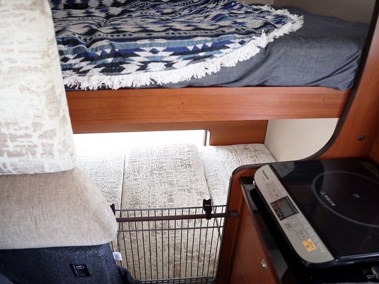 リア2段ベッド