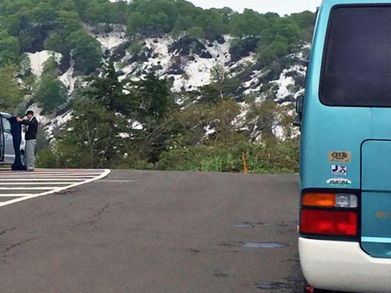トヨタコースター駐車