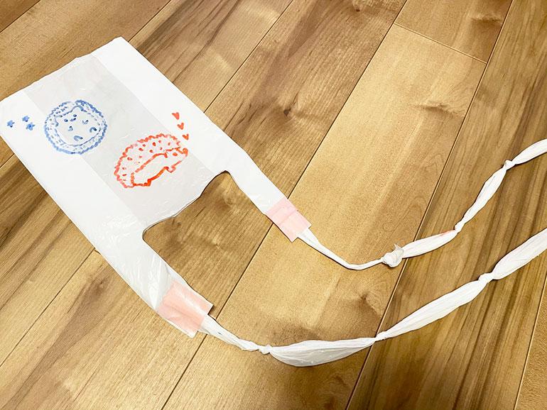 ポリ袋で作った凧