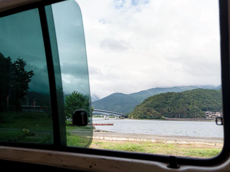 車内から見た景色