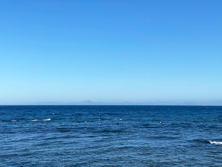 国定公園大間崎から見た海