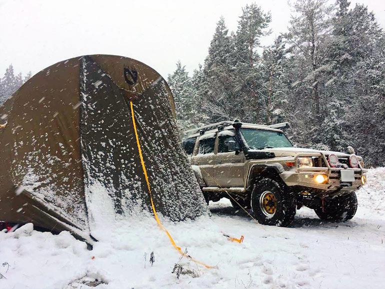 雪 キャンプ