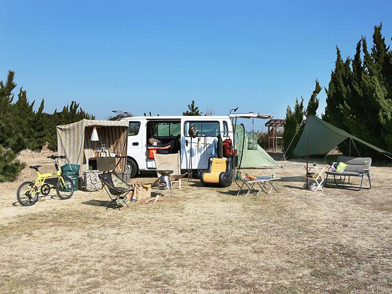 キャンプ 車