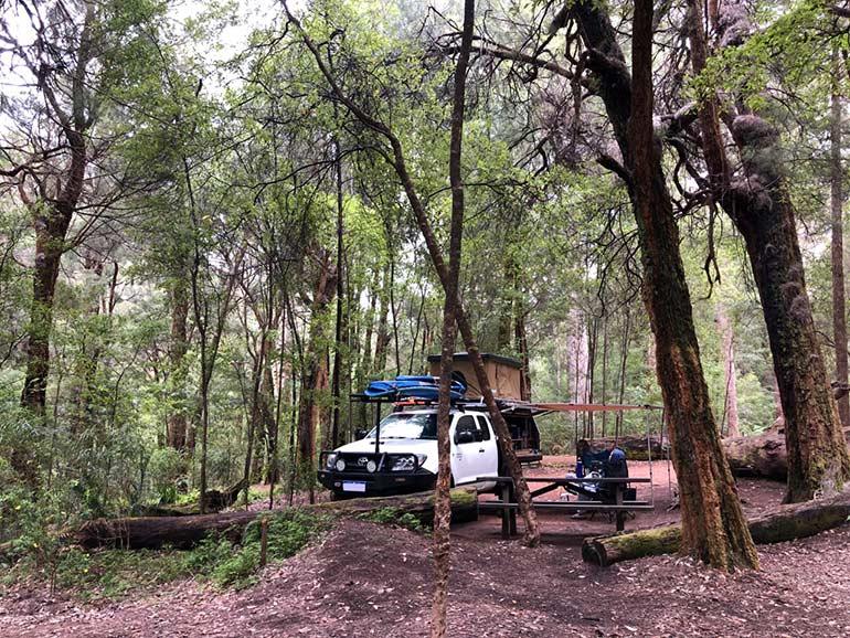 西オーストラリアの西南部キャンプスポット