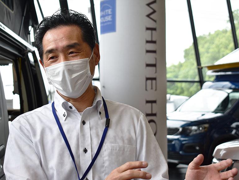 ホワイトハウスキャンパー横浜店の深澤さん